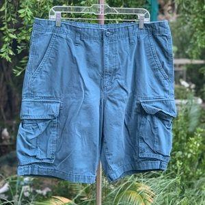OLD NAVY Men's Blue Cargo Cotton Shorts Sz 38